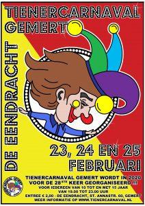 Poster, Tienercarnaval, 23 t/m 25 februari 2020